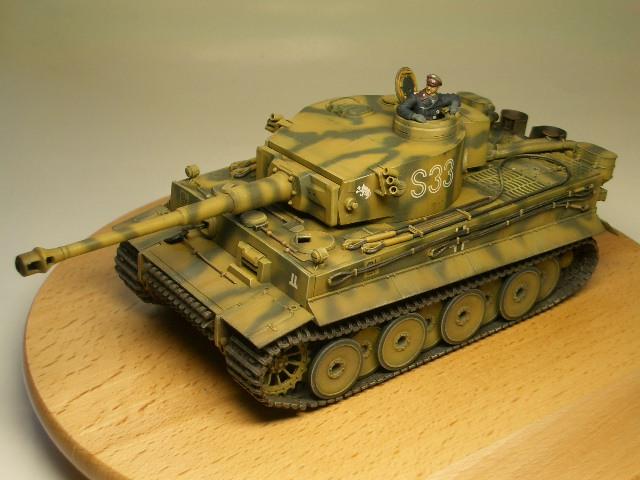 タミヤ1/48 タイガーⅠ初期生産型 01
