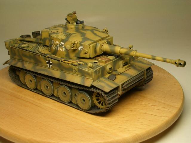 タミヤ1/48 タイガーⅠ初期生産型 03